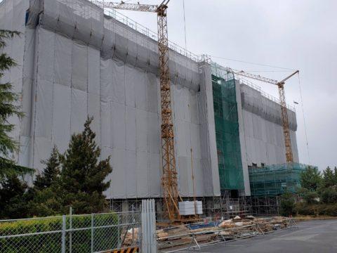 某学校新築工事 次世代足場